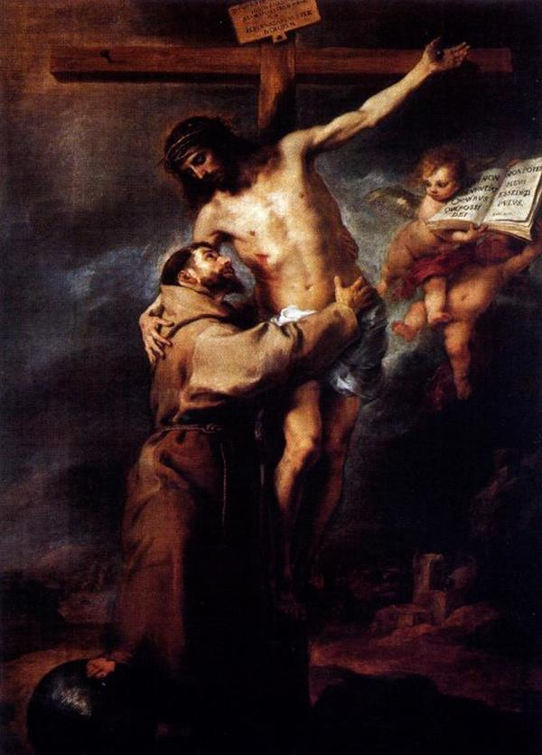 Bartolomé Esteban Murillo, Saint Francis of Assisi Embracing the Crucified  Christ   St. Francis & the Americas